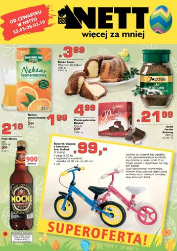 Oferta weekendowa Netto - gazetka 25-28 marca 2010