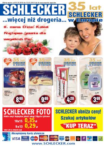 Schlecker - gazetka z promocjami do 13 marca
